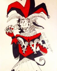 Inktober Day 25: Jester by MagicisLove