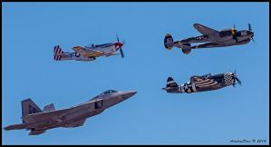 Planes of Fame Heritage Flight II by AirshowDave