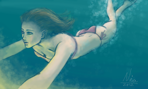 Swimming girl by FernandaNia
