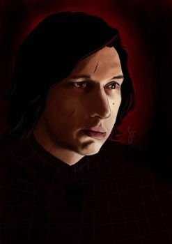 Adam Driver as Kylo Ren by SariSariola