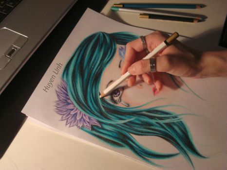 On the way of creating my own fairy:)) WIP by Huyen-Linh