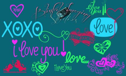 Photoshop XoXo Love Brushes by BlissfuLLimaging