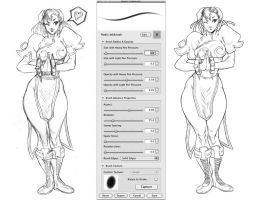 Inking in Sketchbook Pro by Robaato