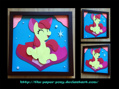 12x12 Cutie Mark Applebloom Shadowbox by The-Paper-Pony