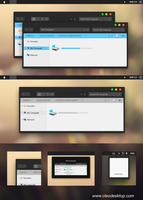 Yosemite Black Theme Windows 8.1 by Cleodesktop