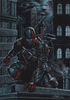 deathstroke on black commission by LucaStrati