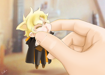 Chibi Noel has been lifted by chienu