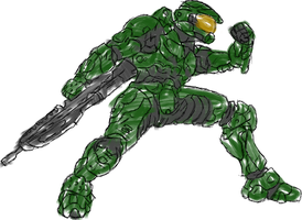 Master Chief by Pointsettia