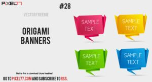 vector origami banners by pixel77-freebies