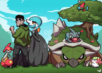 Pokemon Team Commission by casual-pancakes