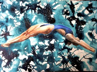 Olympic Diver by fourquods
