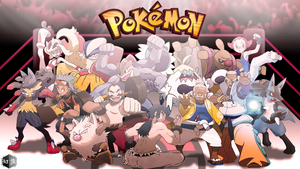 Fighting type Pokemon trainers (Re-Updated art)