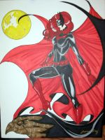 batwoman hand colored by JamieFayX