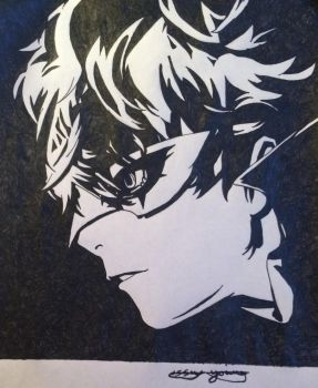 Persona 5 protagonist  by epicbubble7
