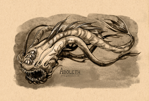 Dungeons and Dragons Monster III Aboleth by gabrieldevue