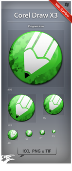 Icon Corel Draw X3 by ncrow
