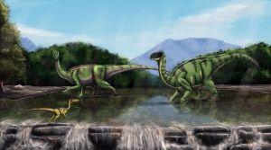 Walking with dinosaurs - by Giganotosaur