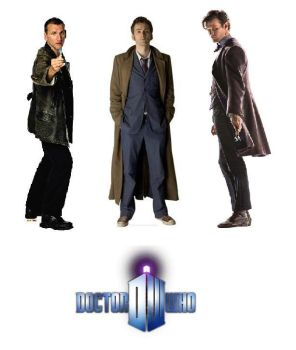 Doctor Who Eccleston Tennant Smith Cutout Poster by ESPIOARTWORK-102