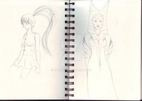 Two sketches. by Chyche