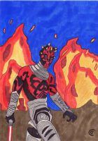 Darth Maul In The Fire by Giorgia99