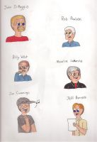 Six Great Voice Actors by Lizlovestoons12