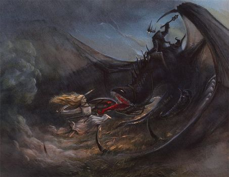 Eowyn and the Witchking by alarie-tano