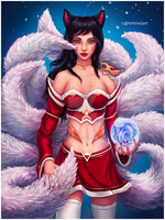 Ahri - League of Legends by lightstore