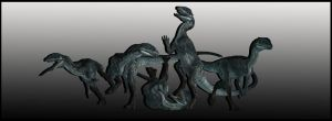 Dilophosaurus - 5 Poses by ReD8ull