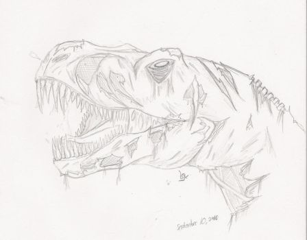 Zombie Trex by StraitJacketDesigns