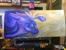 Another painting wip by SpasDragonStudios