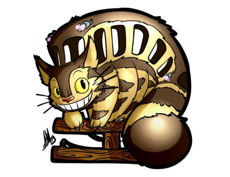 Catbus Sticker by Smudgeandfrank