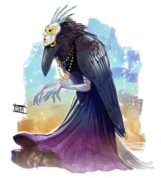Carnival Crow by Nezart