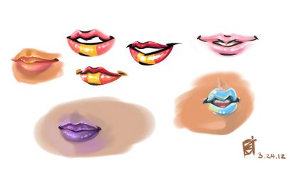 .Lips Study. by AyceWatah