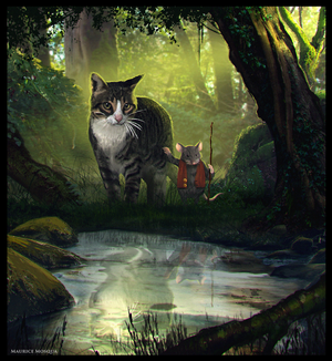 The hidden pond by Enthing