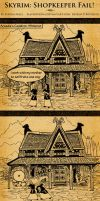 Skyrim: Shopkeeper Fail! by SlayerSyrena
