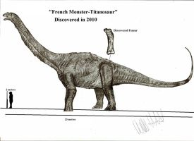 French Monster Titanosaur by Teratophoneus