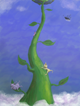 The Beanstalk Climbers by Vellidragon
