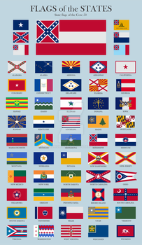 State Flags of the Confederate States of America by ThaDrummer