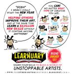 #LEARNUARY begins in FIVE DAYS! by STUDIOBLINKTWICE