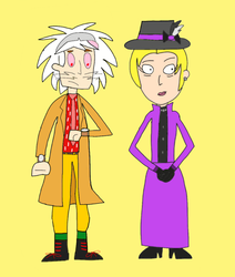 Dr. Two Brains x LRW as Emmett and Clara by Toongirl18