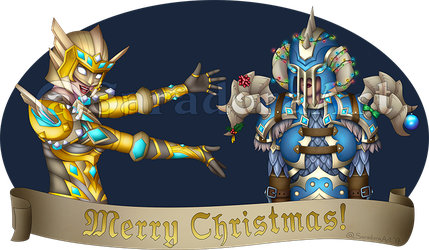 Commission - Merry DKmas by SaradoraArt
