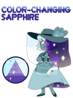 Gem adopt / Color-Changing Sapphire ( closed ) by TrustyArts
