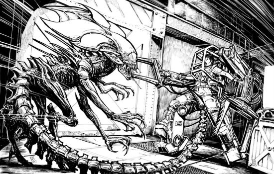 Alien vs ripley by Fpeniche