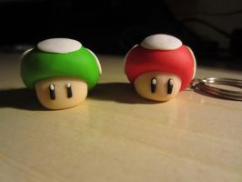 Mario's mushrooms by Zoeira