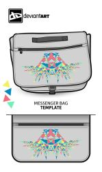 Cubism-Messenger-Bag- Fun wid Triangles by pikkupr