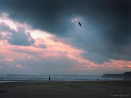 Kite Flying at Benone Strand by rowanseymour