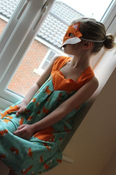 Design Team Project - Fox themed dress and mask by StitchItMama