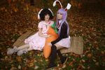 Reisen Udongein Inaba and Tewi Inaba and Carrot by jurisdictia