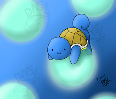 Squirtle by Dino5tee
