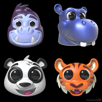 Animal head toy models by m7